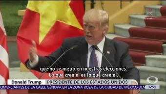 Trump cuestiona a Putin y a las agencias de inteligencia de EU