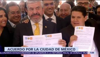 PAN, PRD y MC dan primer paso para formar coalición en CDMX