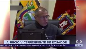 Vicepresidente de Ecuador será enjuiciado por recibir sobornos de Odebrecht