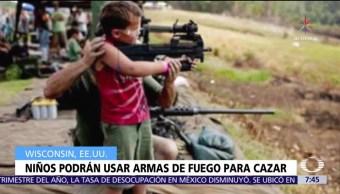 Wisconsin permite a niños de cualquier edad usar armas para cazar