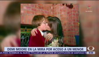 Revelan video de Demi Moore besando a menor de edad en 1982