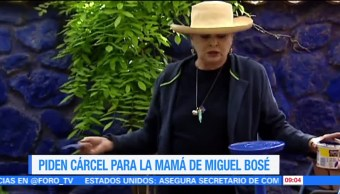 #LoEspectaculardeME: Piden cárcel para la mamá de Miguel Bosé