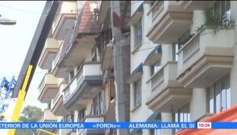 Edificios afectados tras sismo de septiembre