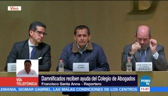 Damnificados reciben ayuda del colegio de abogados