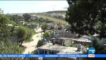 Descubren falla geológica en zona semipoblada Puebla