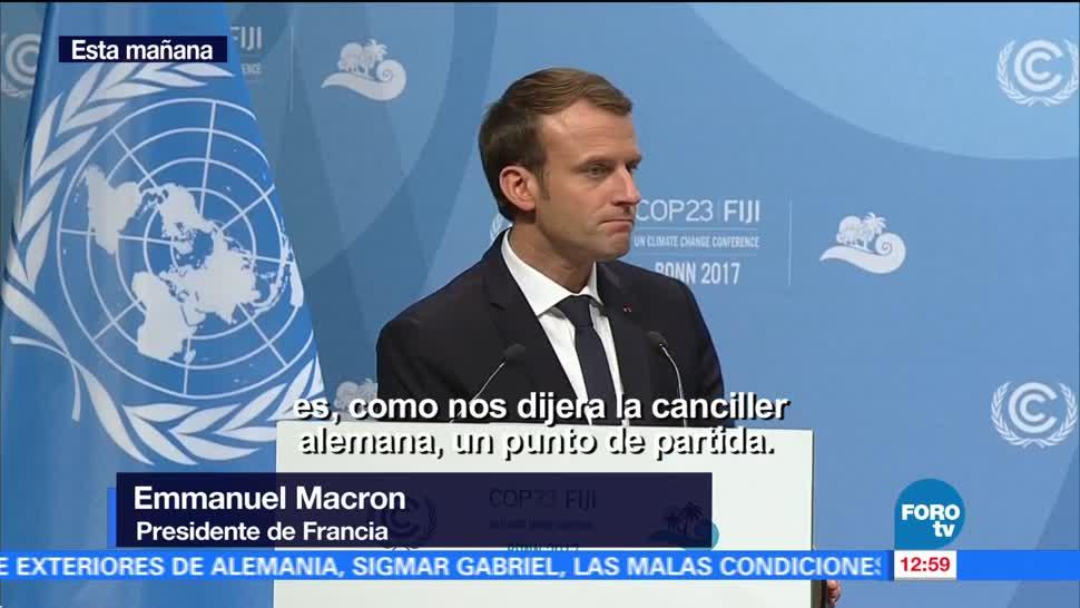 Macron y Merkel piden cumplir Acuerdos de París