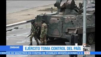 Ejército de Zimbabue toma el control del país