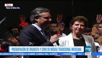 SEP presenta orquesta y coro de música tradicional en Bellas Artes