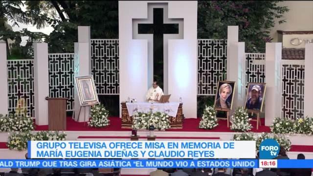 Misa en memoria de Maru Dueñas y Claudio Reyes