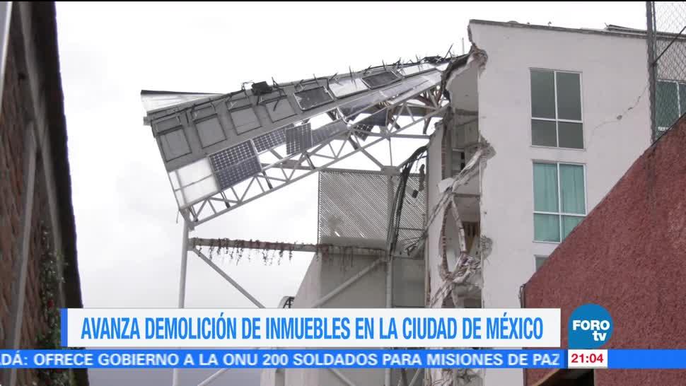 Avanza demolición de inmuebles en la Ciudad de México