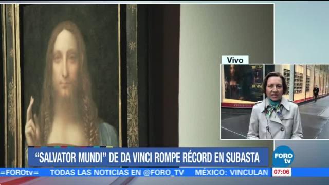 'Salvator Mundi' de Da Vinci rompe récord en subasta