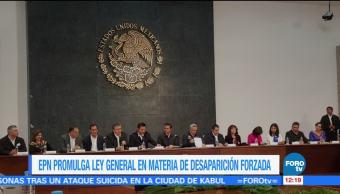 EPN promulga ley general en materia de desaparición forzada de personas