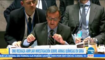 ONU rechaza propuesta rusa sobre armas químicas en Siria