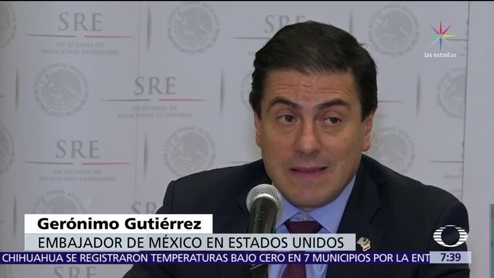 Relación México-EU está en punto de inflexión, dice Gerónimo Gutiérrez