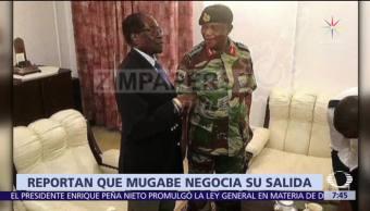 Mugabe se reúne con el jefe del Ejército de Zimbabue