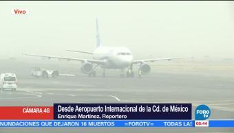 Se reanudan operaciones de aterrizaje en el AICM