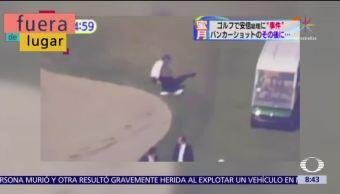 Fuera de Lugar: Primer ministro de Japón se cae al jugar golf