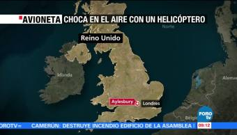 Chocan avión y helicóptero en Reino Unido