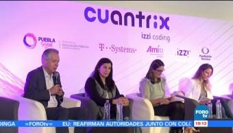 Fundación Televisa presenta modelo 'Cuantrix' en Puebla