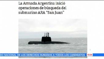 Armada Argentina busca submarino desparecido con 44 tripulantes