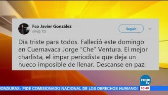 Muere el comentarista deportivo Jorge 'Che' Ventura
