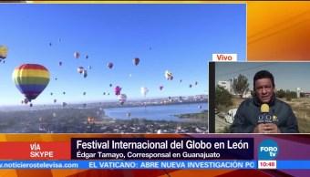 Realizan Festival del Globo Aerostático en León, Guanajuato