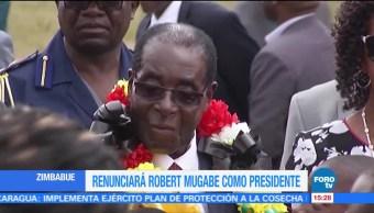 Renunciará Robert Mugabe como presidente de Zimbabue