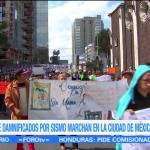Damnificados del sismo en la CDMX exigen apoyos