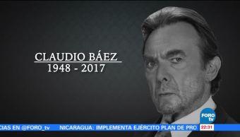 Muere el actor Claudio Báez a los 69 años de edad