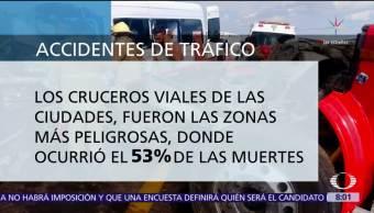 Accidentes viales, principal causa de muerte entre jóvenes de México
