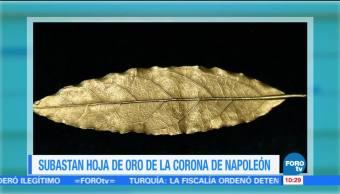 Extra Extra: Subastan hoja de oro de la corona de Napoleón