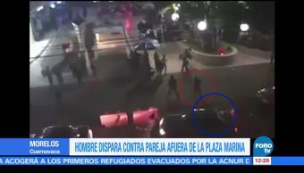 Hombre dispara contra pareja en Plaza Marina, Cuernavaca