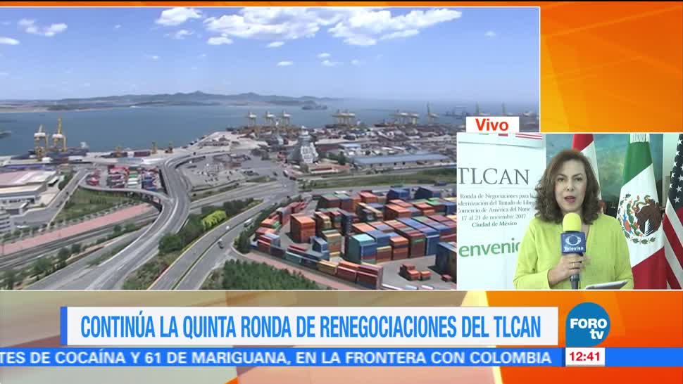 Continúa la quinta ronda de renegociaciones del TLCAN