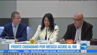 Frente Ciudadano por México acude al INE