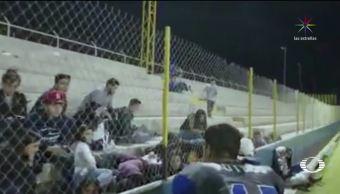 Balacera en medio de un juego de futbol americano en Sonora