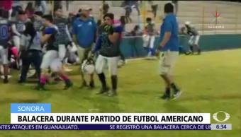 Balacera se desata durante partido de futbol americano en Cajeme, Sonora