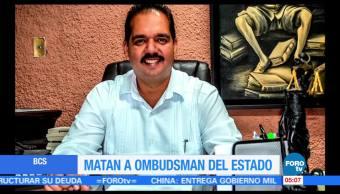 CNDH y Segob condenan asesinato del ombudsman de BCS