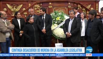 Continúa desacuerdo de Morena en la Asamblea Legislativa de la CDMX