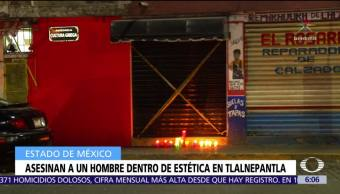 Asesinan a un hombre dentro de una estética en Tlalnepantla