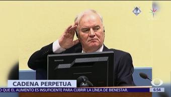 CPI sentencia a cadena perpetua al exjefe militar serbiobosnio Ratko Mladic
