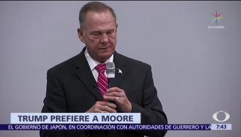 Trump no descarta apoyar a Roy Moore, a pesar de acusaciones de acoso