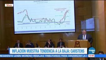 Agustín Carstens presenta el informe trimestral de julio a septiembre