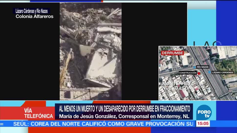 Derrumbe en Monterrey, NL, deja un muerto