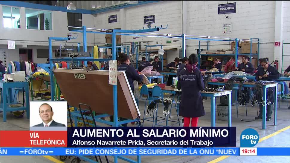 Aumento al salario mínimo se hizo de forma responsable: Navarrete Prida