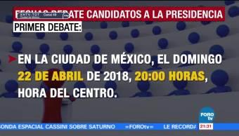 Fechas para debates presidenciales en 2018