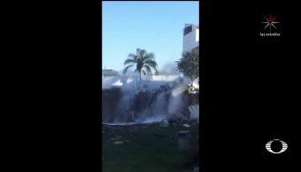 Derrumbe múltiple de viviendas en Monterrey