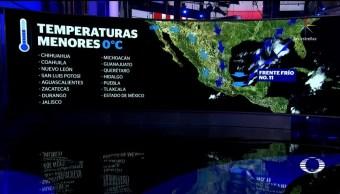 Alerta por intenso frío en casi todo el país