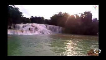 Se recupera el caudal en las Cascadas de Agua Azul