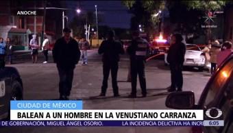 Asesinan a tiros a un hombre en la delegación Venustiano Carranza