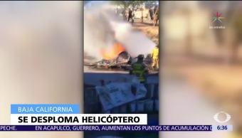 Se desploma helicóptero de la Policía de Tijuana durante operativo